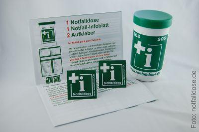 Bei uns erhältlich: Die Notfalldose